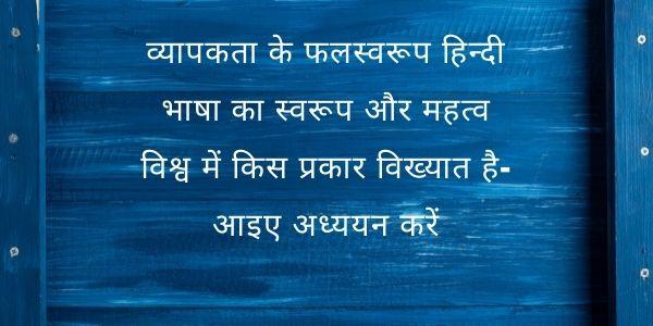 Rashtrabhasha Hindi Ka Swarup Aur Mahatv